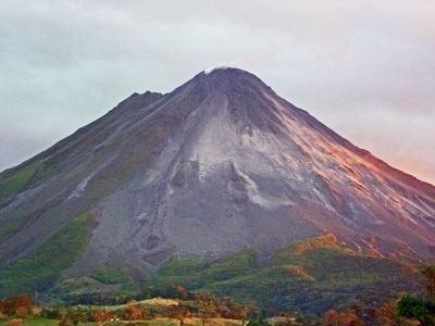 The Famous Arenal Volcano a safe 15 miles from the villa. Awe Inspiring vista.