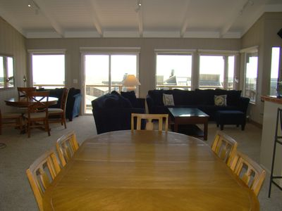 Dining room table and common area upstairs