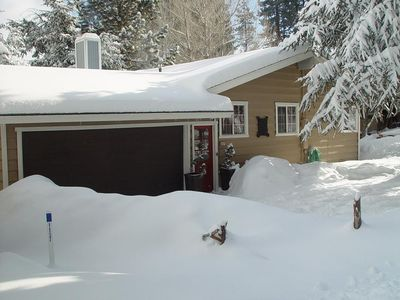 Front of the Cabin after a snow