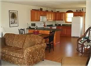 Lake Placid townhome rental - Main level into kitchen