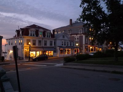 Rockport cottage rental - Main Street, Rockport on a summer evening.