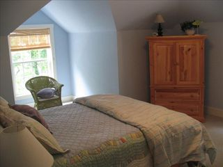 Lake Gaston house photo - Bedroom #2 Queen with direct main lake view- satellite HDTV & Full Bathroom