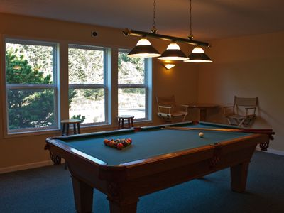 Game Area with Pool and Card Tables