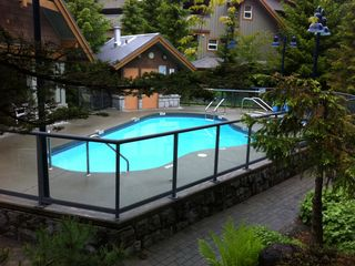 Outdoor heated pool and hot tub. There is a gym and sauna as well.