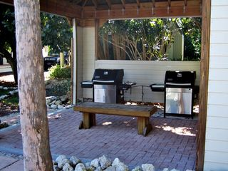 Sanibel Island condo photo - Convient Covered Grill area just outside your front door - perfect for meals!