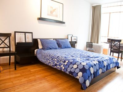 East Village apartment rental - Rest on a brand-new memory mattress and high thread-count all-cotton linens
