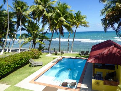 Boutique Beachfront w/ large private pool!  Reserve today! No hurricane damage!!