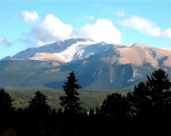 View of Pikes Peak from the Lodge