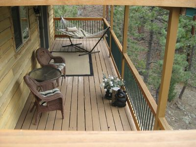 Relax and Enjoy the Mountains from the Lower Level Deck off of the Family Room