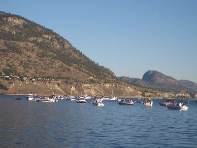 Boats in Lake Okanagan