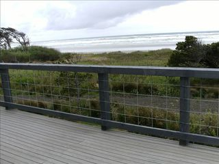 Yachats house photo - Looking South off the upper deck, wonderful sunsets and bird and whale watching.
