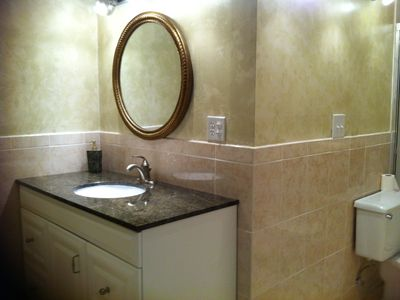Newly Remodeled Designer Bath Suite