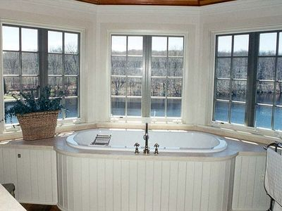 Master Bath overlooking Mill Pond