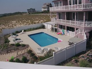 Corolla house photo - Very Large Pool Area with Spa, Pergula-Shaded Bar, and very large backyard