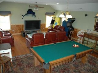 Southern Shores house photo - Theater, and Game Room