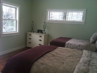 Mount Desert cottage photo - Downstairs double beds, views of the ocean