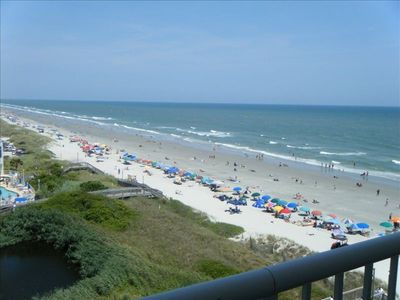 Oceanfront view from balcony