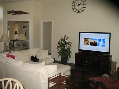 Fort Myers house rental - Kick back and enjoy a movie on the 60in TV