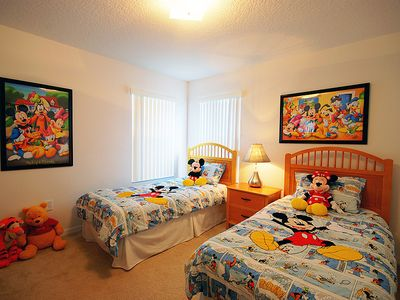 Haines City villa rental - Disney themed twin room.
