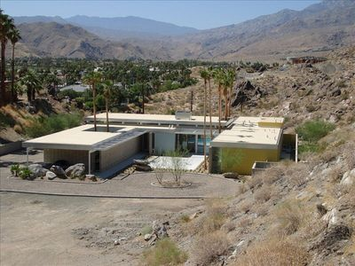 "South facing aerial view-Visit FaceBoook page :""Palm Springs Vacation Rental"""