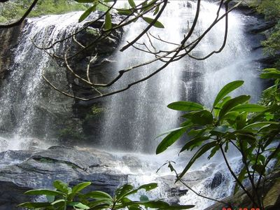 Five waterfalls on Lake Glenville