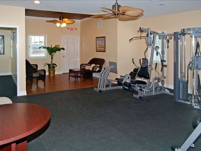 FITTNESS CENTER & COTTAGE W/ 4 CARDIO MACHINES, HAND & MULTI STATION WEIGHTS