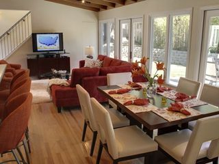 Pebble Beach house photo - Great Room with bar seating and dining table.