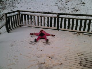 Warwick chalet photo - snow angel