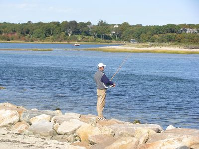 East Bay is close by and fun for fishing and crabbing!