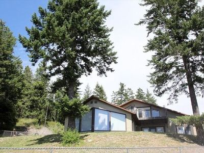 Bigfork house rental - Lots of windows to overlook Flathead Lake and mountains