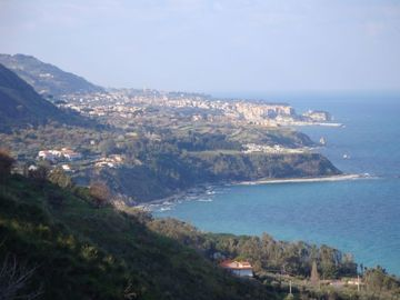 Looking northwards to Tropea