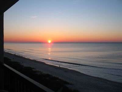 Sunrise from Balcony at High Tide