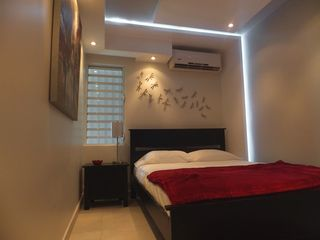 Isla Verde apartment photo - Beautiful/modern ceiling fascias with white led around the walls. Split unit a/c