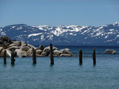 Skunk Harbor at Lake Tahoe. Quiet and beautiful beach.