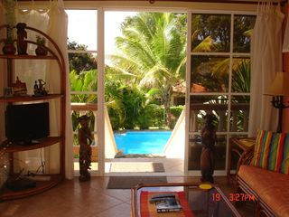 Sosua villa photo - Back of villa and pool