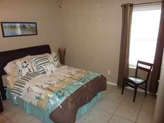 South Padre Island condo photo - Comfortable 2nd bedroom with queen size bed and LCD TV
