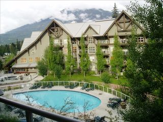 Whistler condo photo - View pool area from our deck