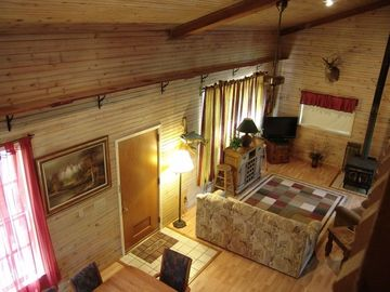 Camdenton cabin rental - View from the spacious loft