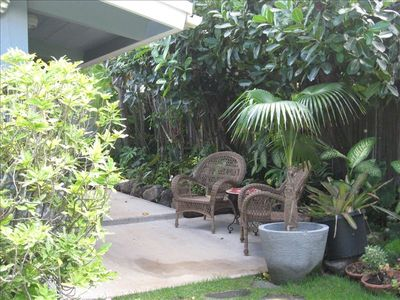 Private garden area, great for relaxing