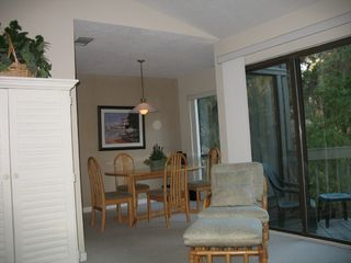 Sea Pines condo photo - Dining Area overlooks Lagoon with Wildlife