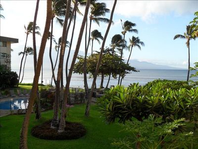 The early morning view from our lanai - enjoy! Photo taken summer 2011.