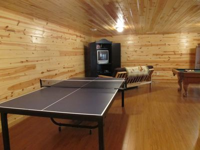 Ellijay cabin rental - The Awesome Terrace Level Game Room! Ping Pong, Xbox, and Pool Table.
