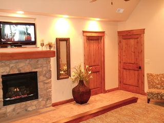 Snowbasin house photo - Take in a book by the fire in Eagles Nest Suite