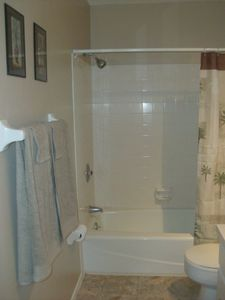 Bathroom 1 with tub & shower combo