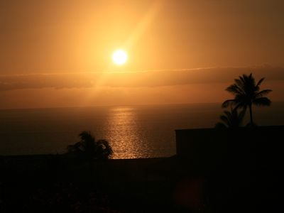 Wailea condo rental - Enjoy beautiful sunsets from the kitchen, the living/dining room, and the lanai!