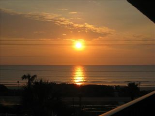 Ormond Beach condo photo - Morning sunrise from our balcony.