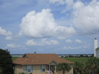 Harbor Island house photo - River view from the front deck...enjoy beautiful evening sunsets