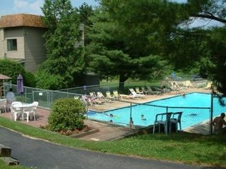 Weirs Beach condo photo - Pool, tennis, playground on site