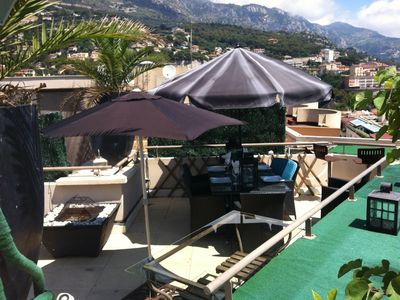 Monaco apartment rental - mountain views! Life is good!