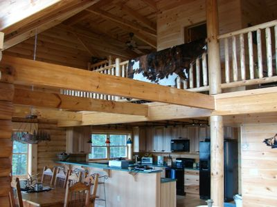 Bostic cabin rental - Dining Room and Part of the Second Floor